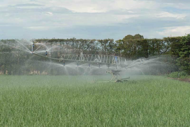 Linear Irrigation in field