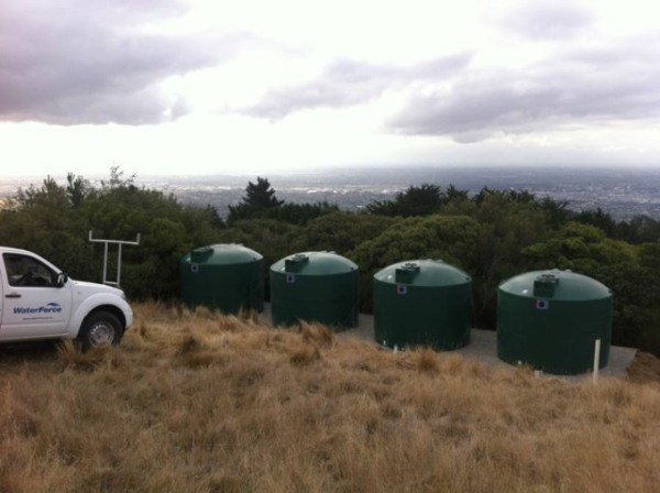 Helicopter brought in for Port Hills water storage installation